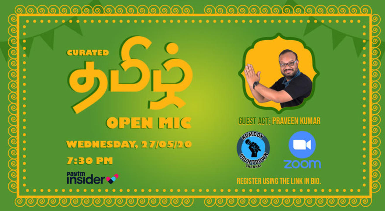 curated tamizh open mic