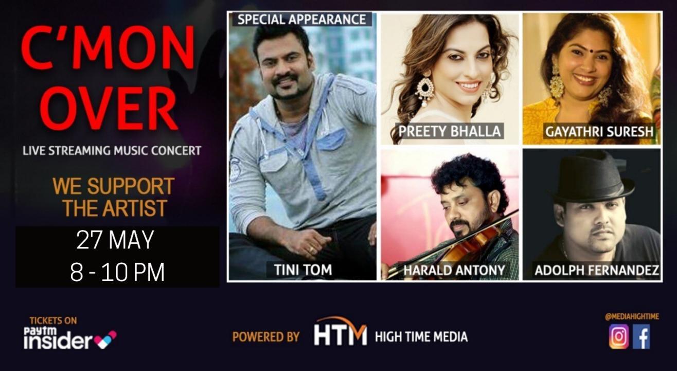 C'mon Over - Live Streaming Music Concert featuring Tini Tom, Preety Bhalla, Gayathri Suresh, Harald Antony, Adolf Fernandez