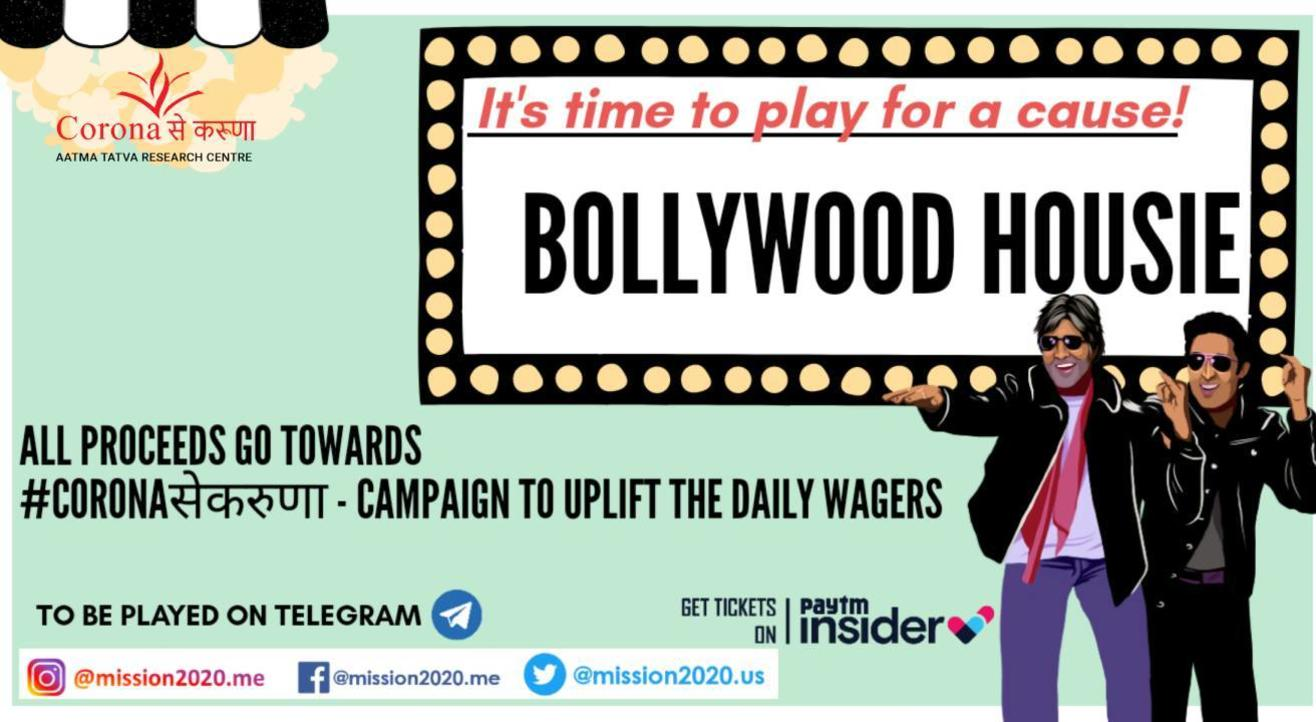 Play For A Cause- Bollywood Housie