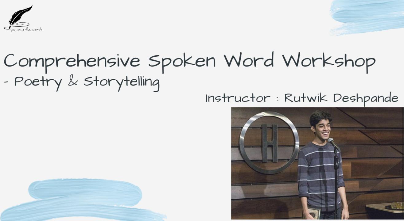 YOW's Comprehensive Spoken Word Workshop - Poetry & Storytelling