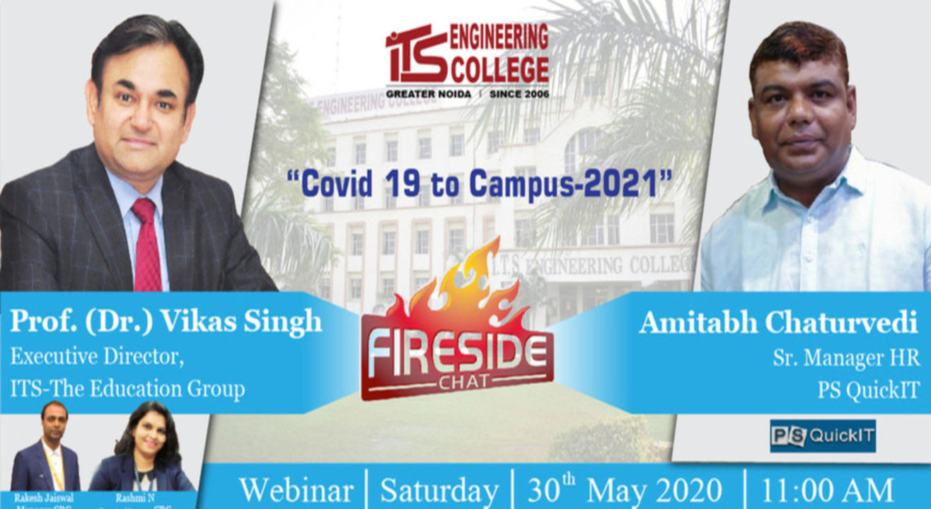 Live Webinarseries at ITS Engineering College: FIRECHAT with Top HR leader Guest# 6