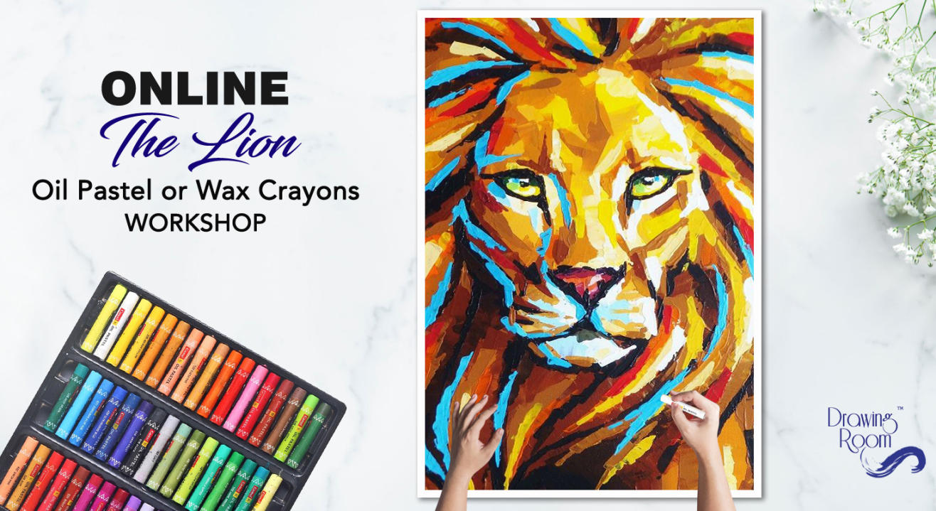 Online The Lion Oil Pastel Workshop by Drawing Room