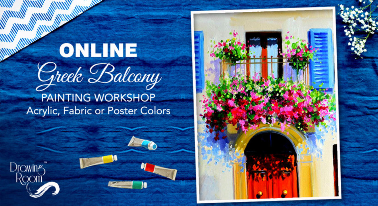 Online Greek Balcony Painting Workshop by Drawing Room