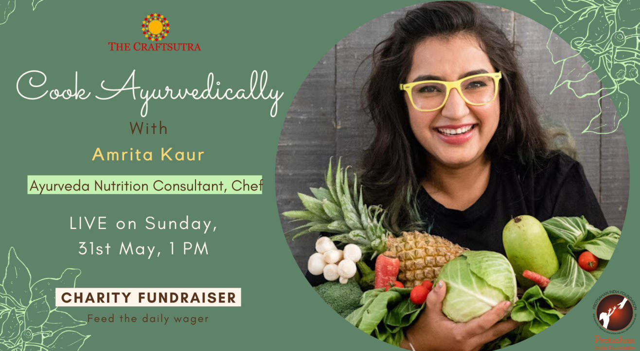 Charity Fundraiser Event - Cook Ayurvedically with Amrita Kaur