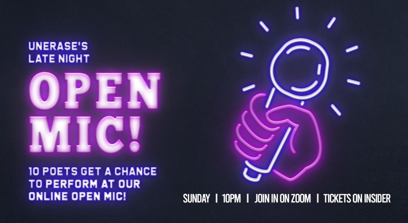 UnErase Open Mic - Late Night Edition