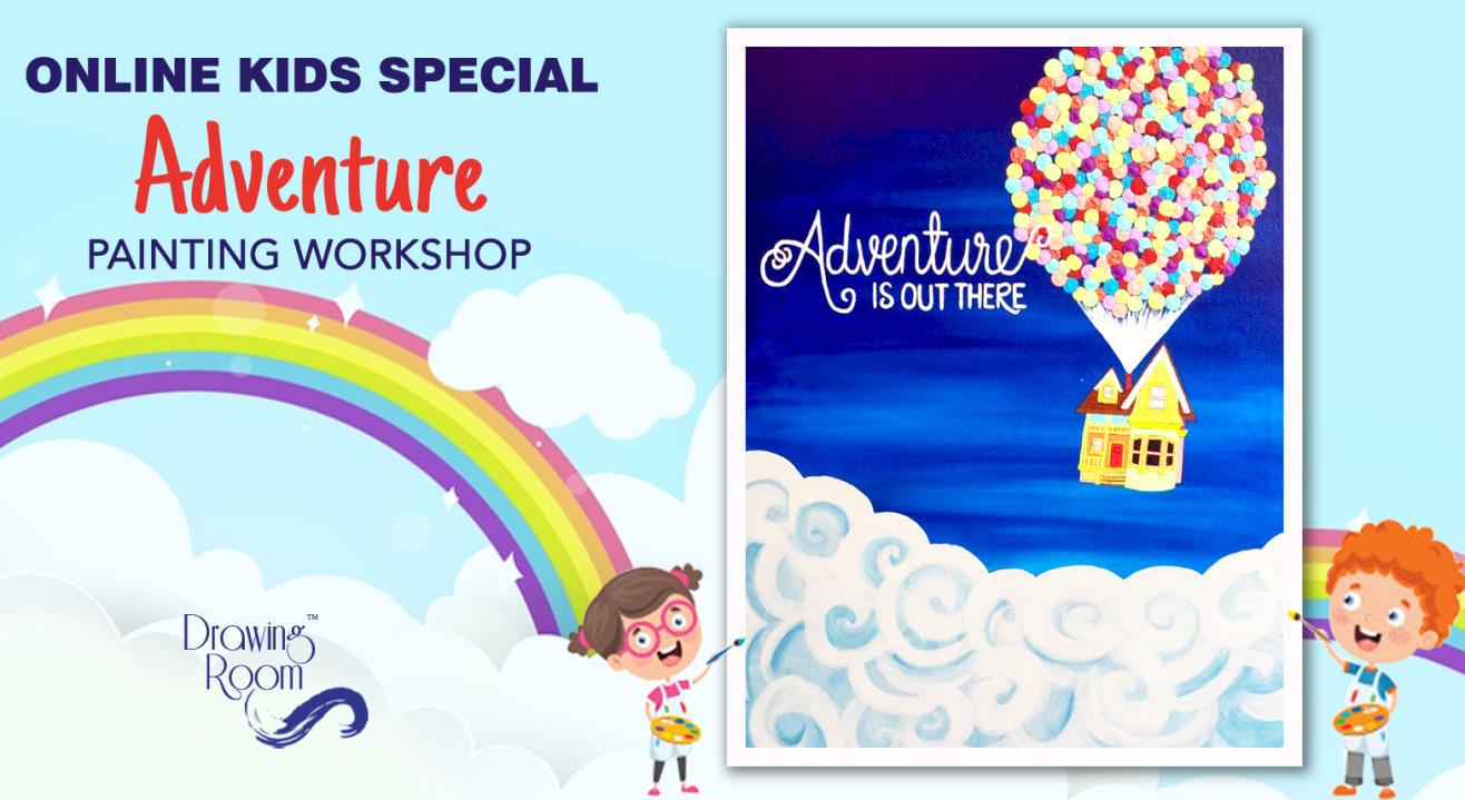 Online Kids Special Adventure Painting Workshop by Drawing Room