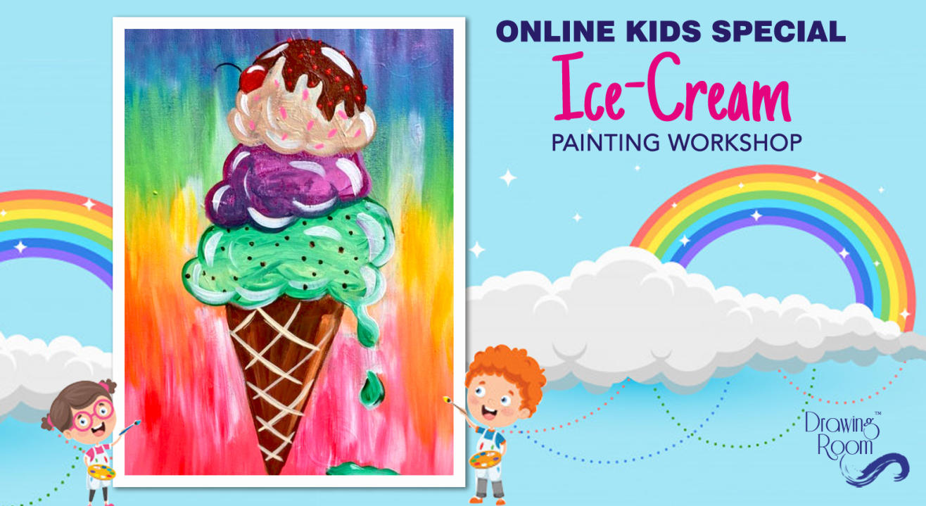 Online Kids Special Ice-Cream Painting Workshop by Drawing Room