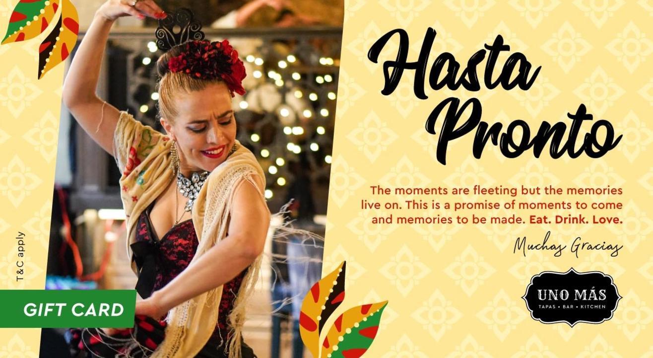 Uno Más Presents: Hasta Pronto Gift Cards