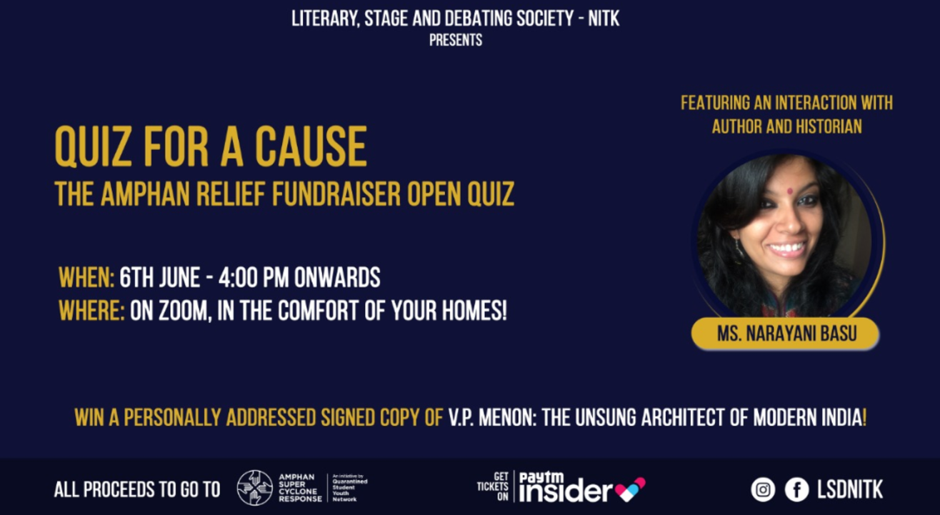 Quiz for a Cause - The Aamphan Relief Fundraiser Quiz