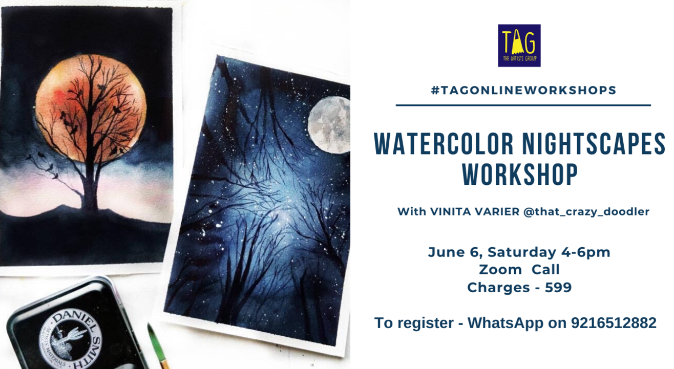 Paint Watercolor Nightscapes with TAG