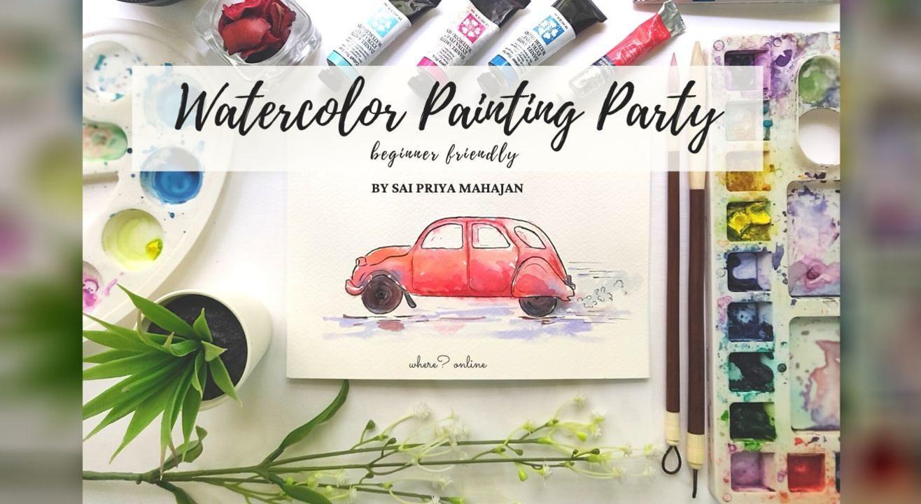 Watercolor Painting Party Beginner Friendly