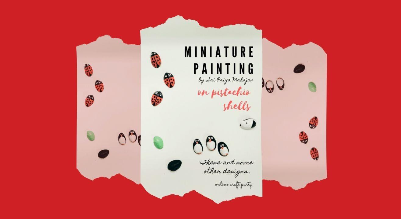 Miniature Painting on Pistachio Shells
