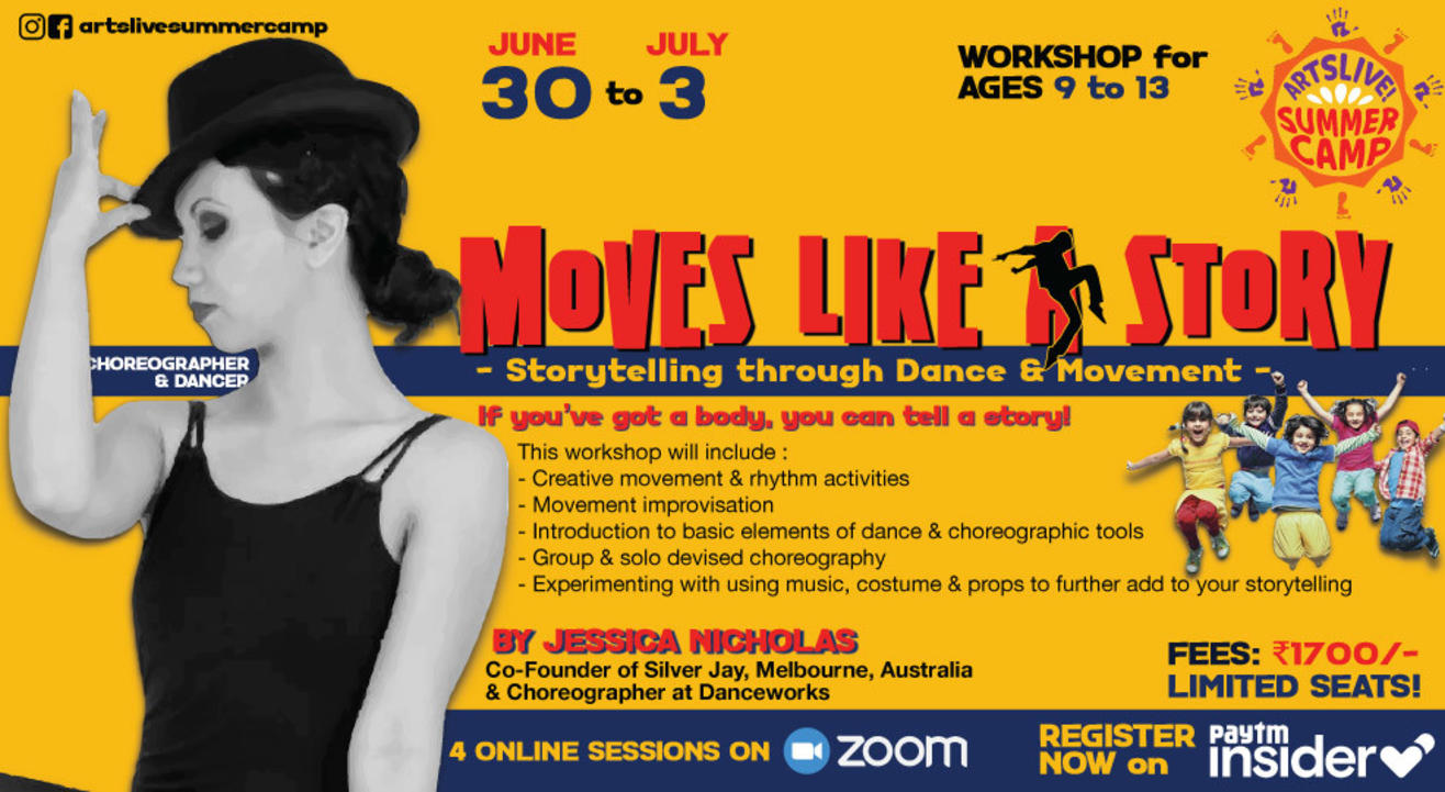 Moves Like a Story! Summer camp presented by ArtsLive