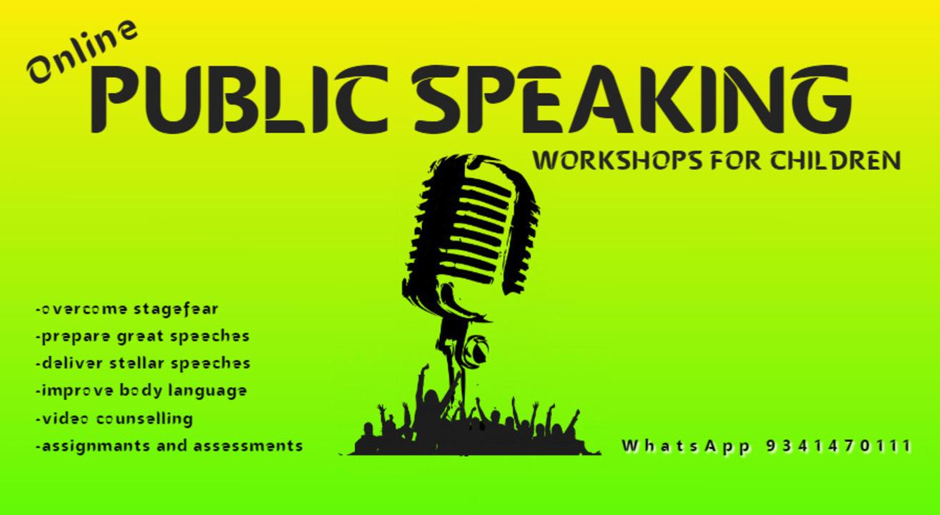 Online Public Speaking Workshops for Children