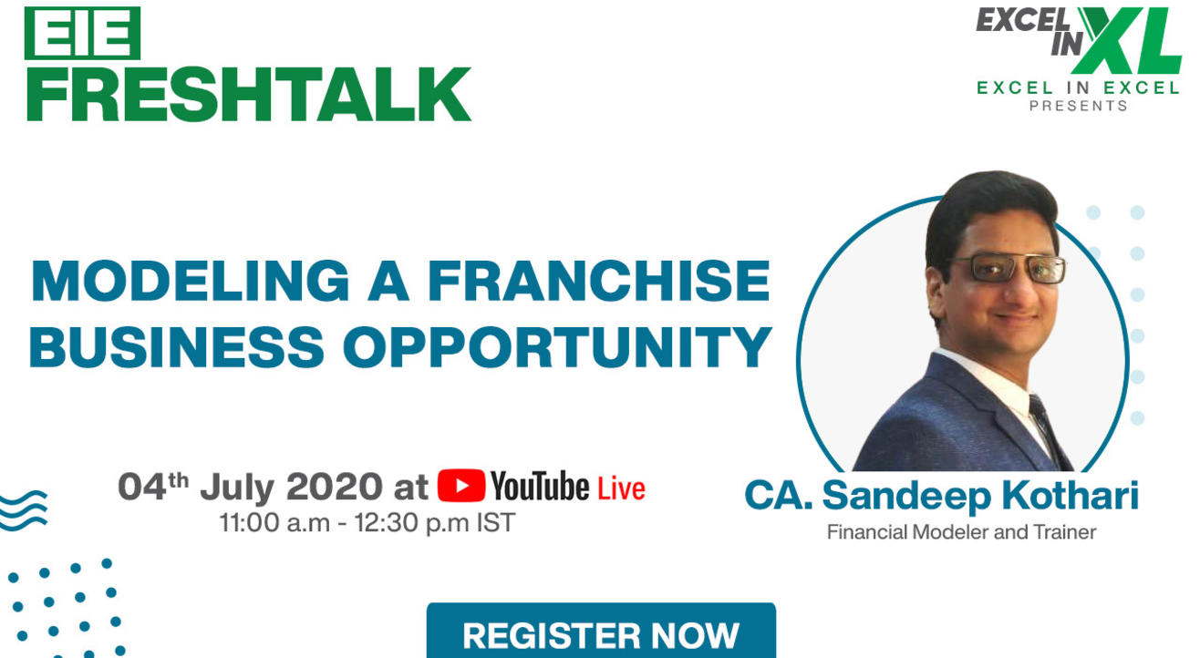 Modeling a Franchise Business Opportunity by CA. Sandeep Kothari | #EiEFreshTalk Ep 10