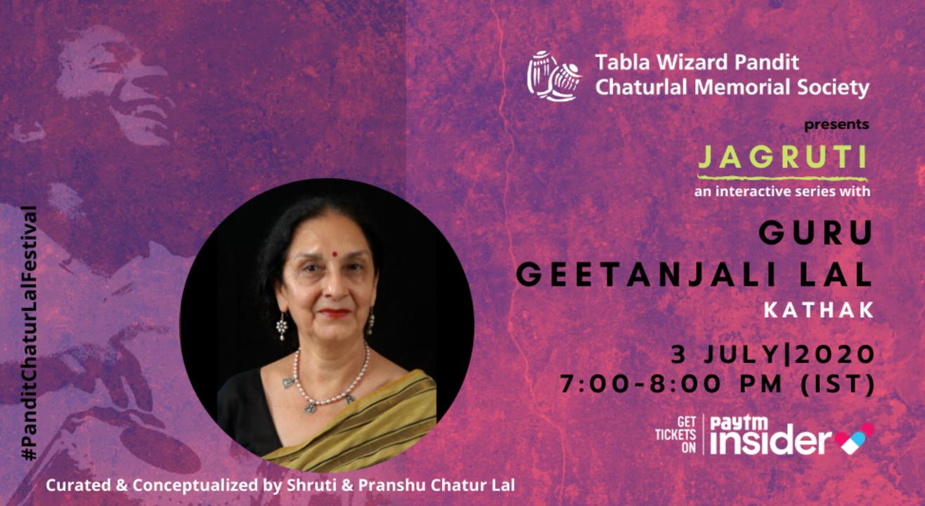 Jagruti - a concert series with Guru Geetanjali Lal