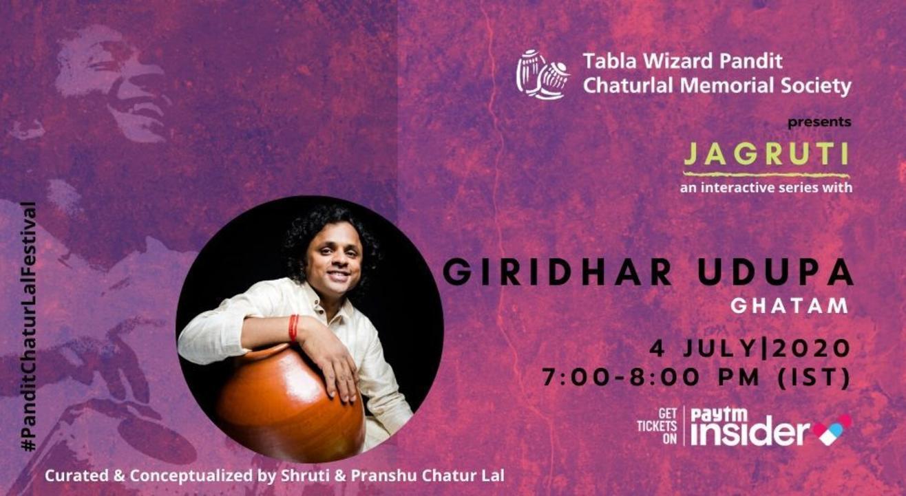 Jagruti - a concert series with Ghatam Giridhar Udupa