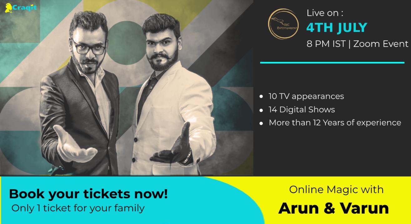 Online Magic with Arun & Varun | First ever Magic Duo in India