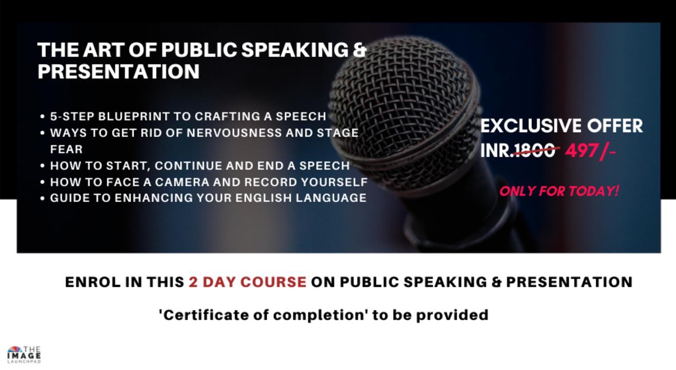 MASTER the Art of Public Speaking & Presentation