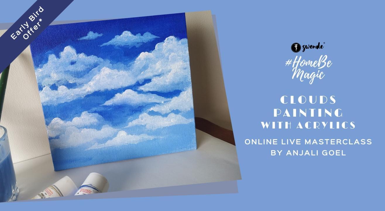 Clouds Painting Online Live Masrweclass