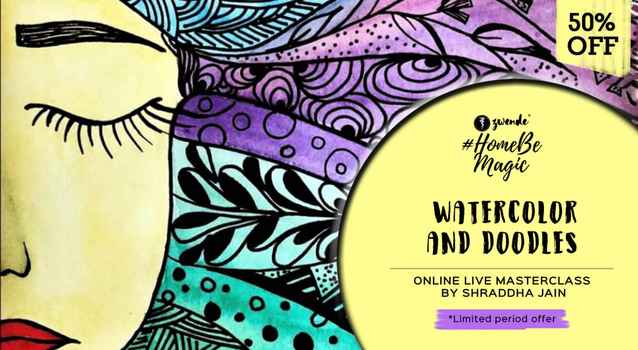 Watercolor And Doodles Online Live Masterclass