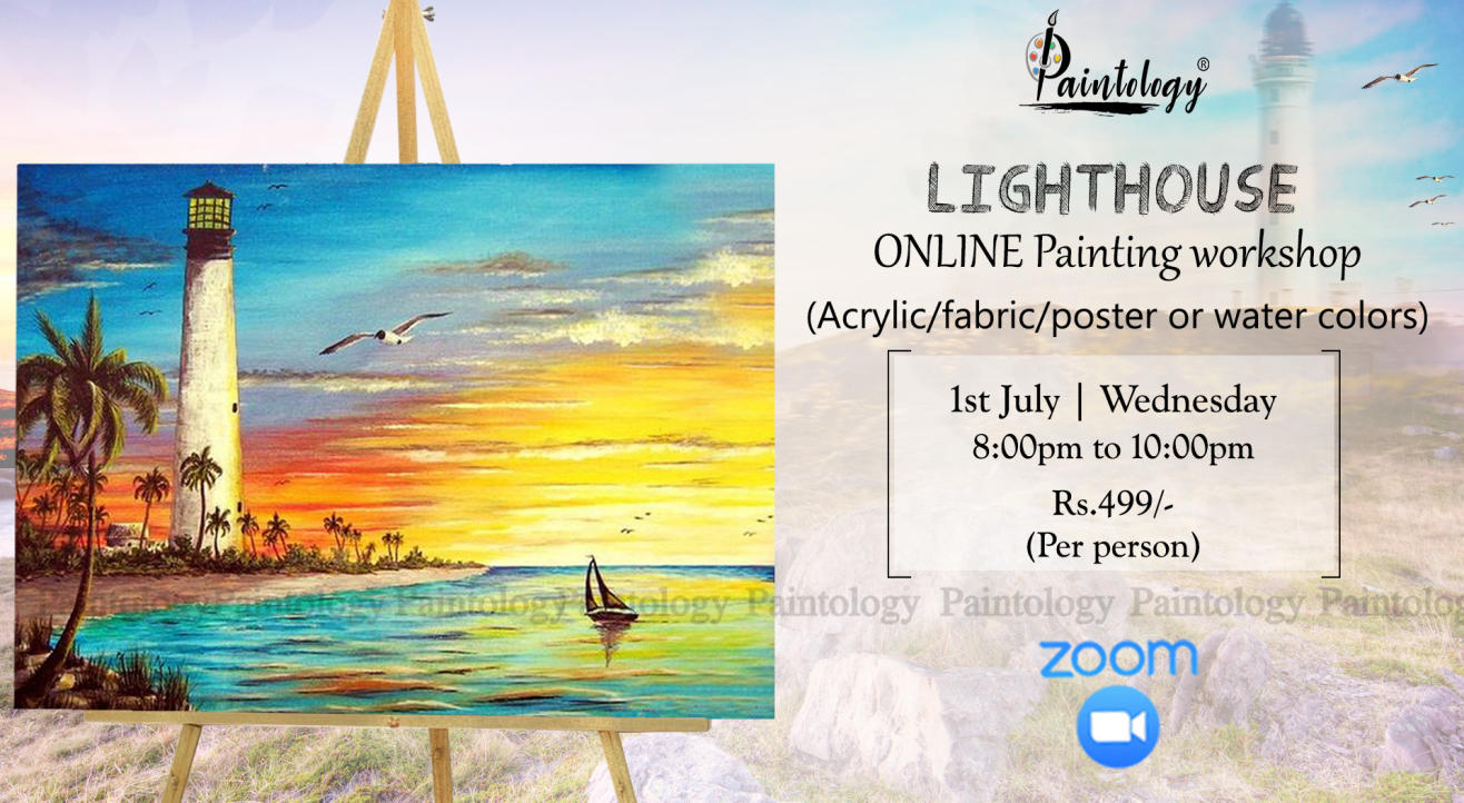 'Lighthouse'  painting workshop by Paintology