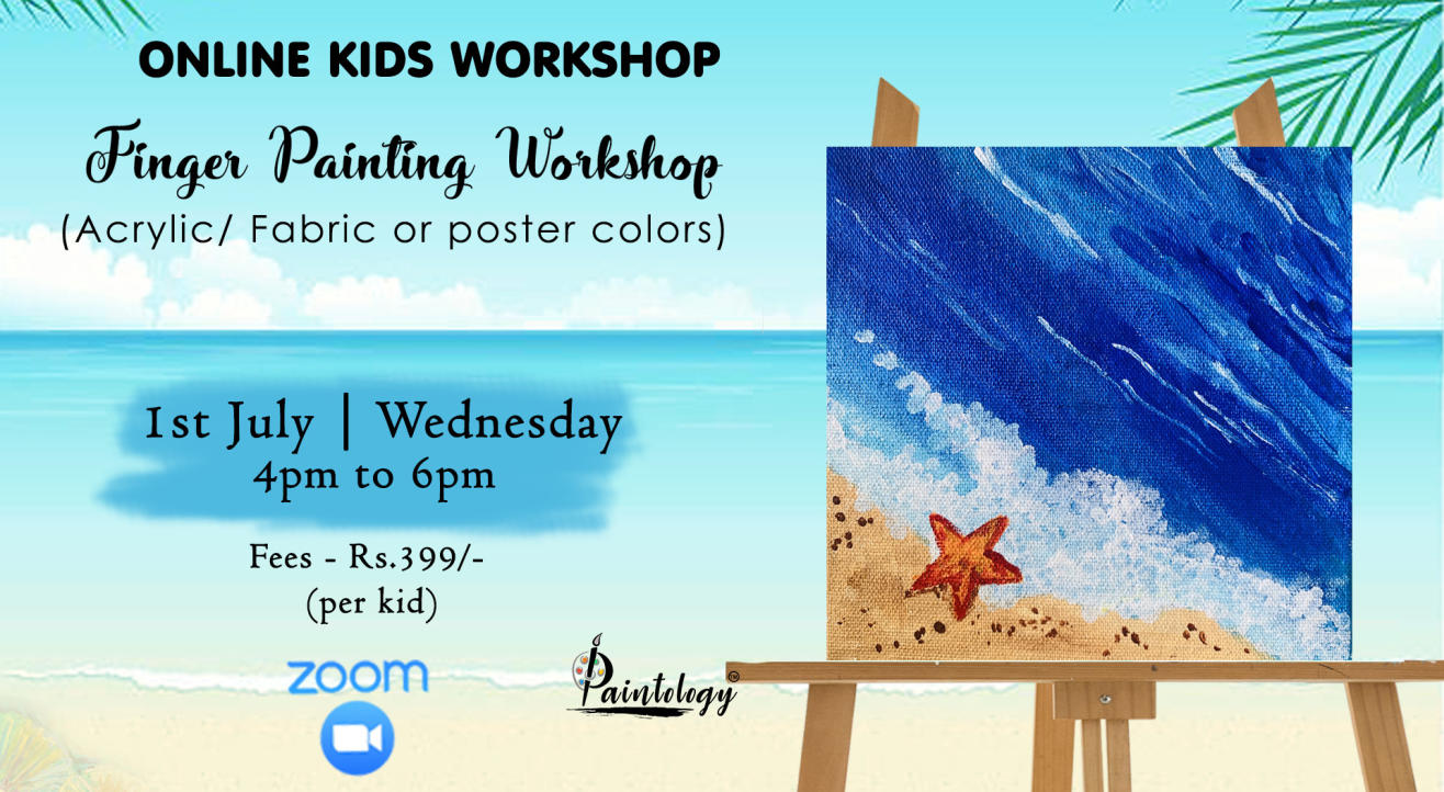 'Kids'-  Finger Painting Workshop by Paintology