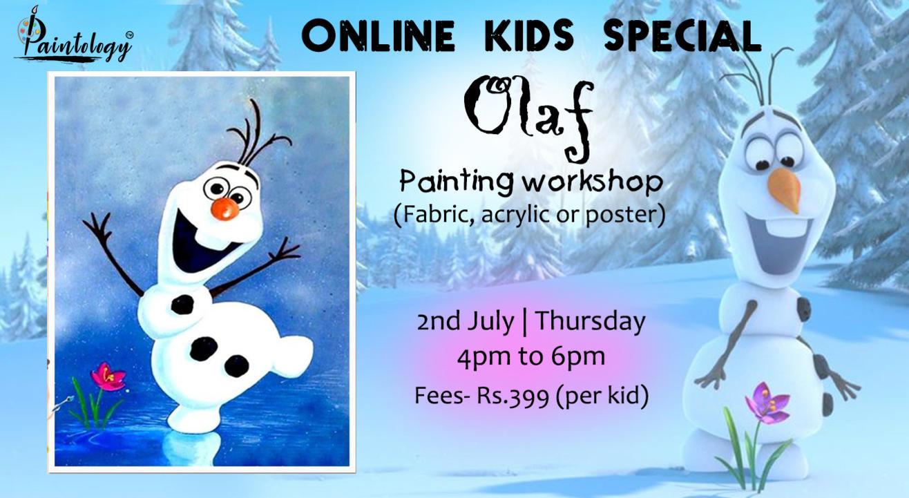 'Olaf' Kids Online  Painting Workshop