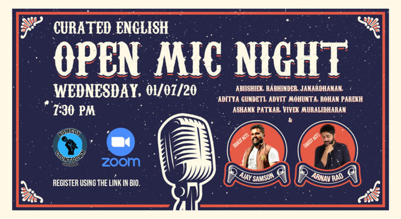 Curated English Open Mic Night