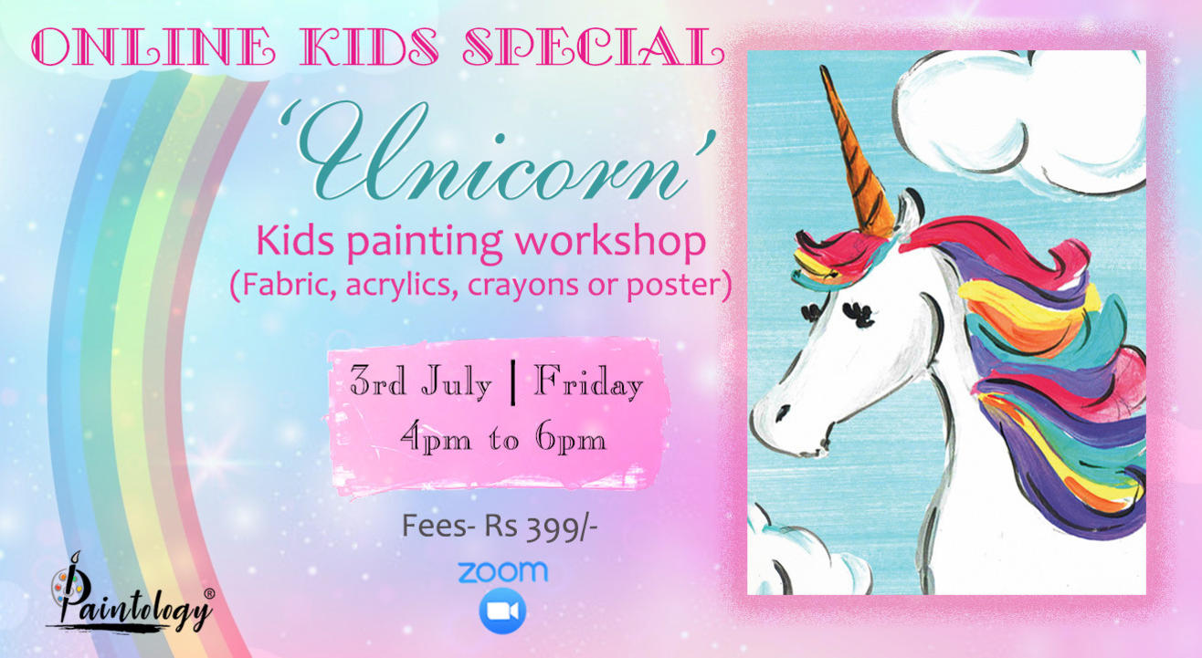 'Unicorn' Kids  Painting Workshop