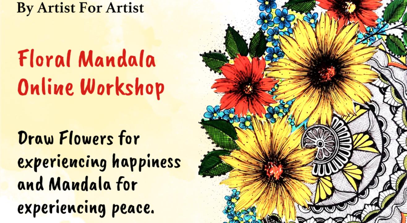 Floral Mandala Online Workshop with BAFA
