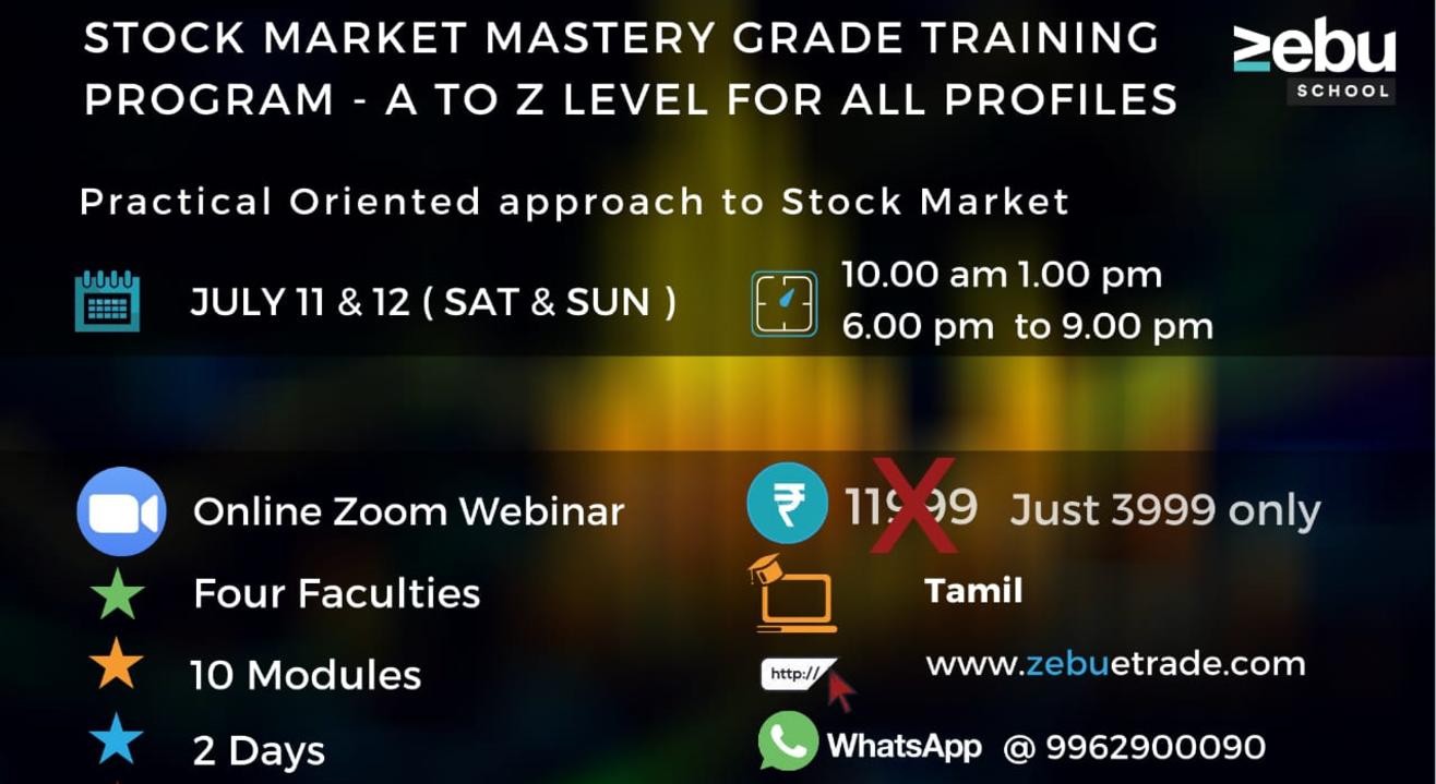 Zebu | Stock Market Mastery Grade Training Program