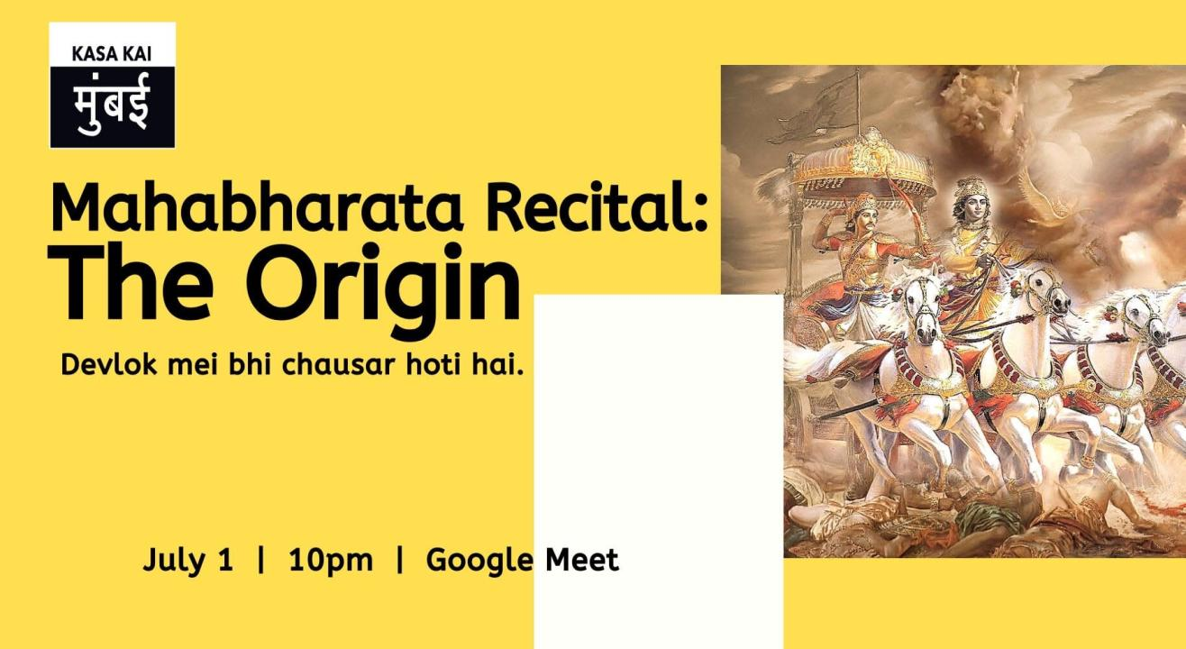 Mahabharata Recital: The Origin At Google Meet