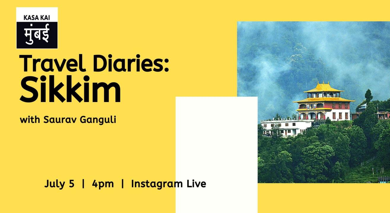 Travel Diaries with Saurav Ganguli about Sikkim At Instagram Live