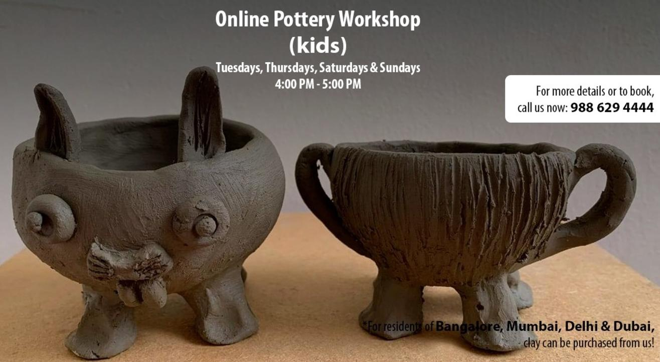 Online Pottery Workshop for Kids