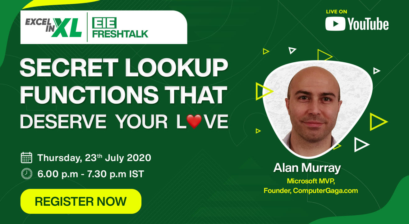 Secret Lookup Functions that deserve Your Love | #EiEFreshTalk by Excel in Excel