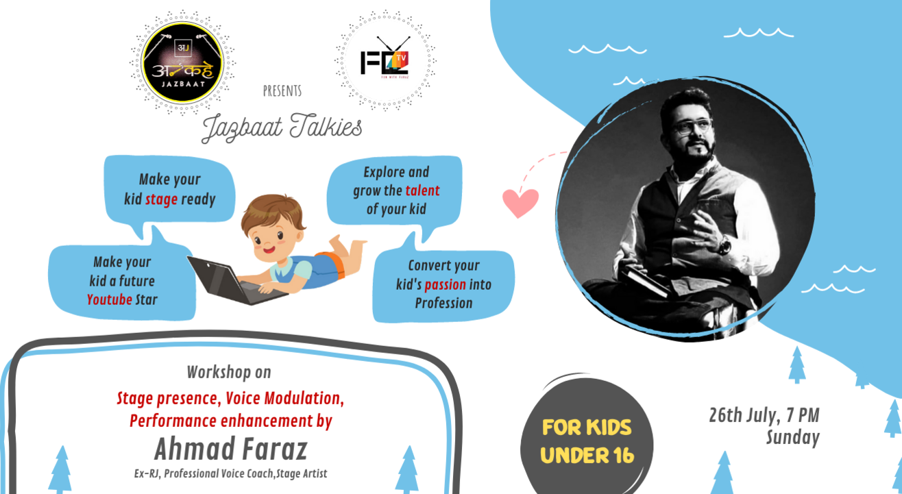 Workshop on Voice Modulation & Stage Performance with Ahmad Faraz