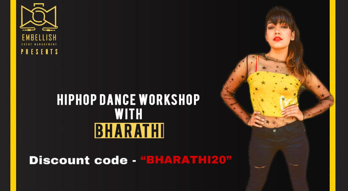 Hiphop dance workshop with BHARATHI | Embellish event