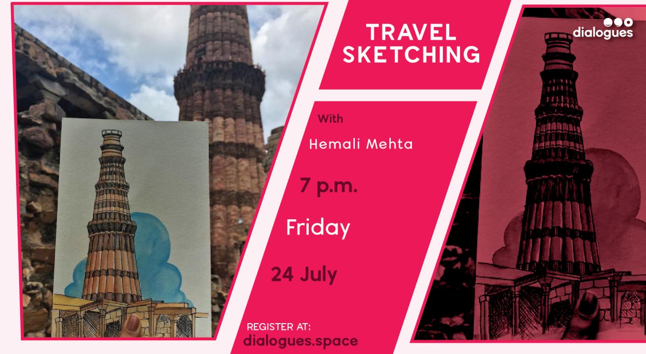Travel sketching with Hemali Mehta