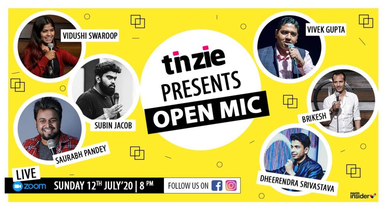 Tinzie presents Open Mic with Comics