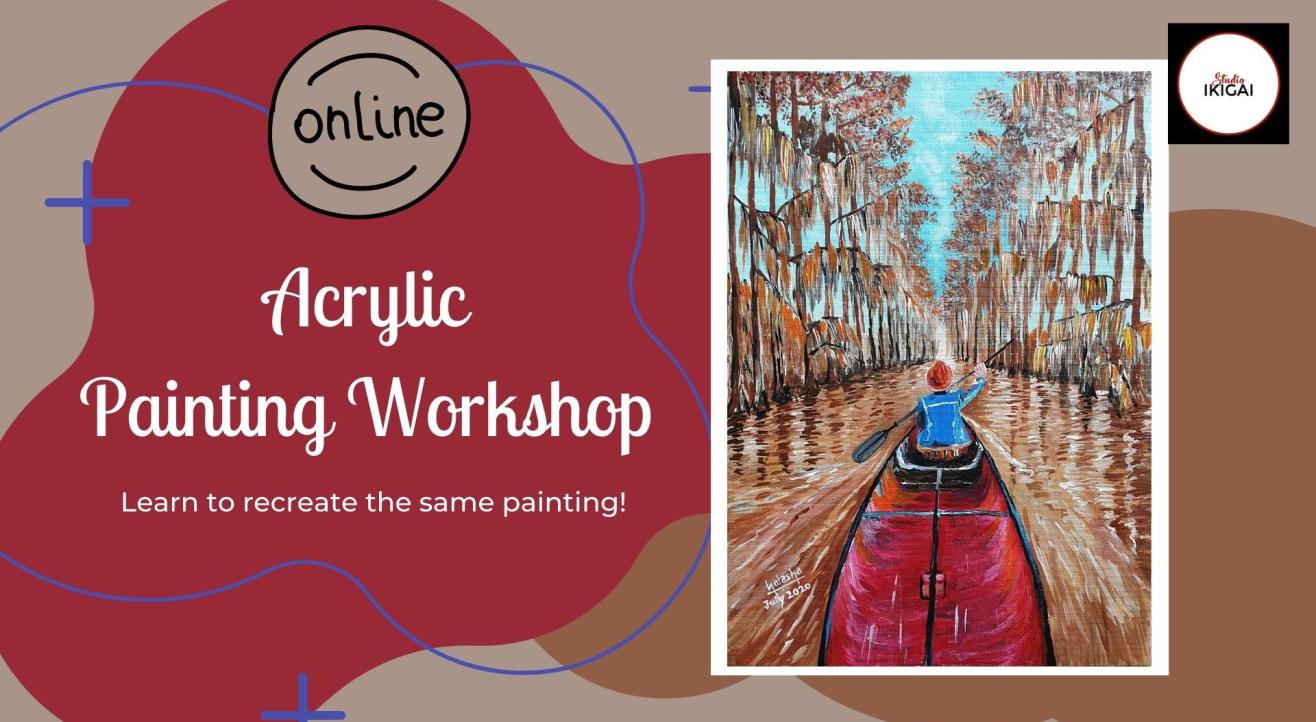Online Acrylic Painting Workshop - Boat Ride