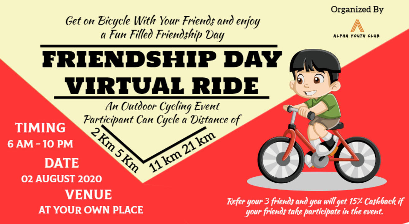 Friendship Day Virtual Ride