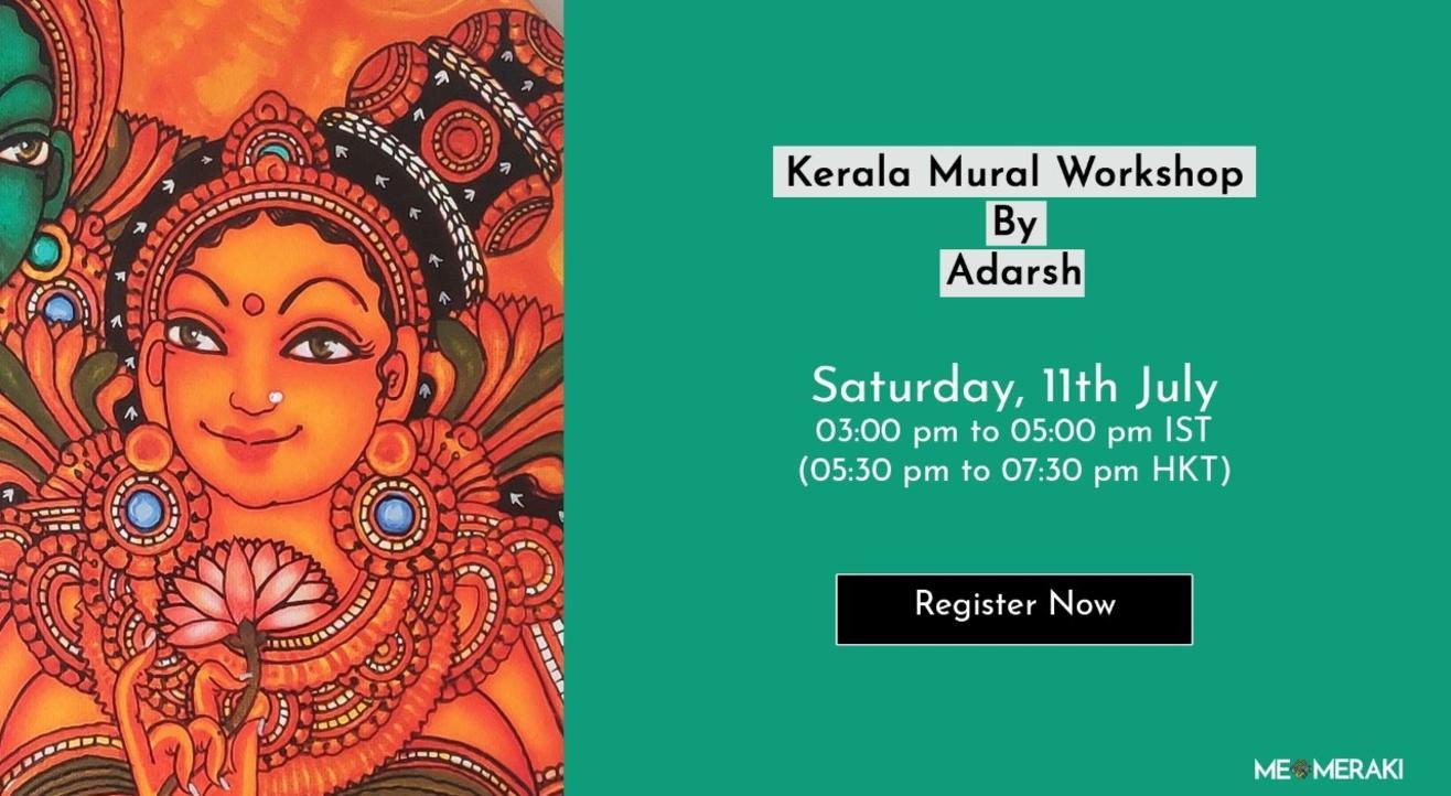 Kerala Mural Workshop With Adarsh