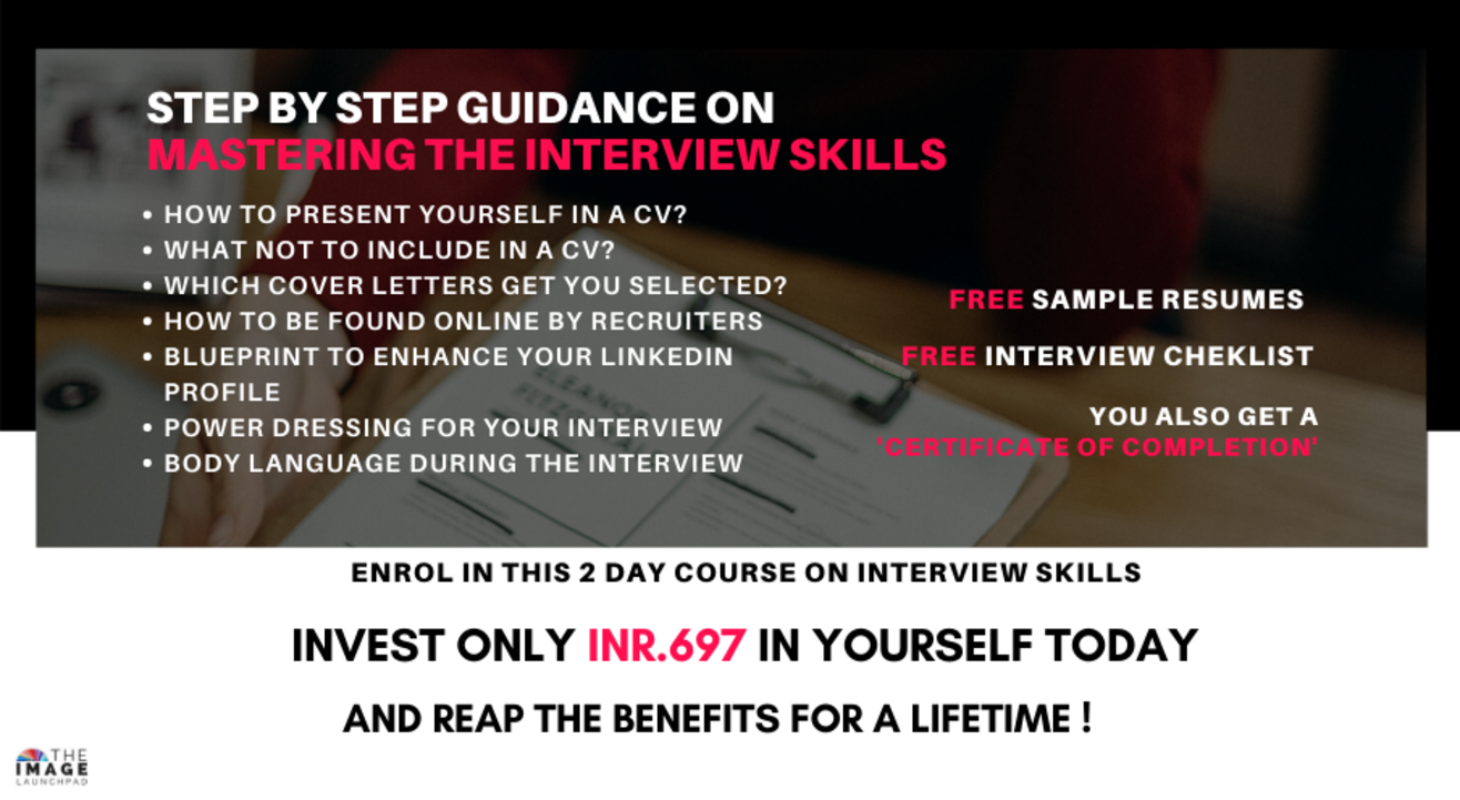 MASTERCLASS ON INTERVIEW SKILLS