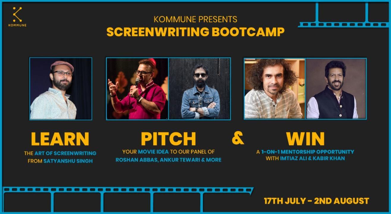 Kommune Presents Screenwriting Bootcamp With Satyanshu Singh