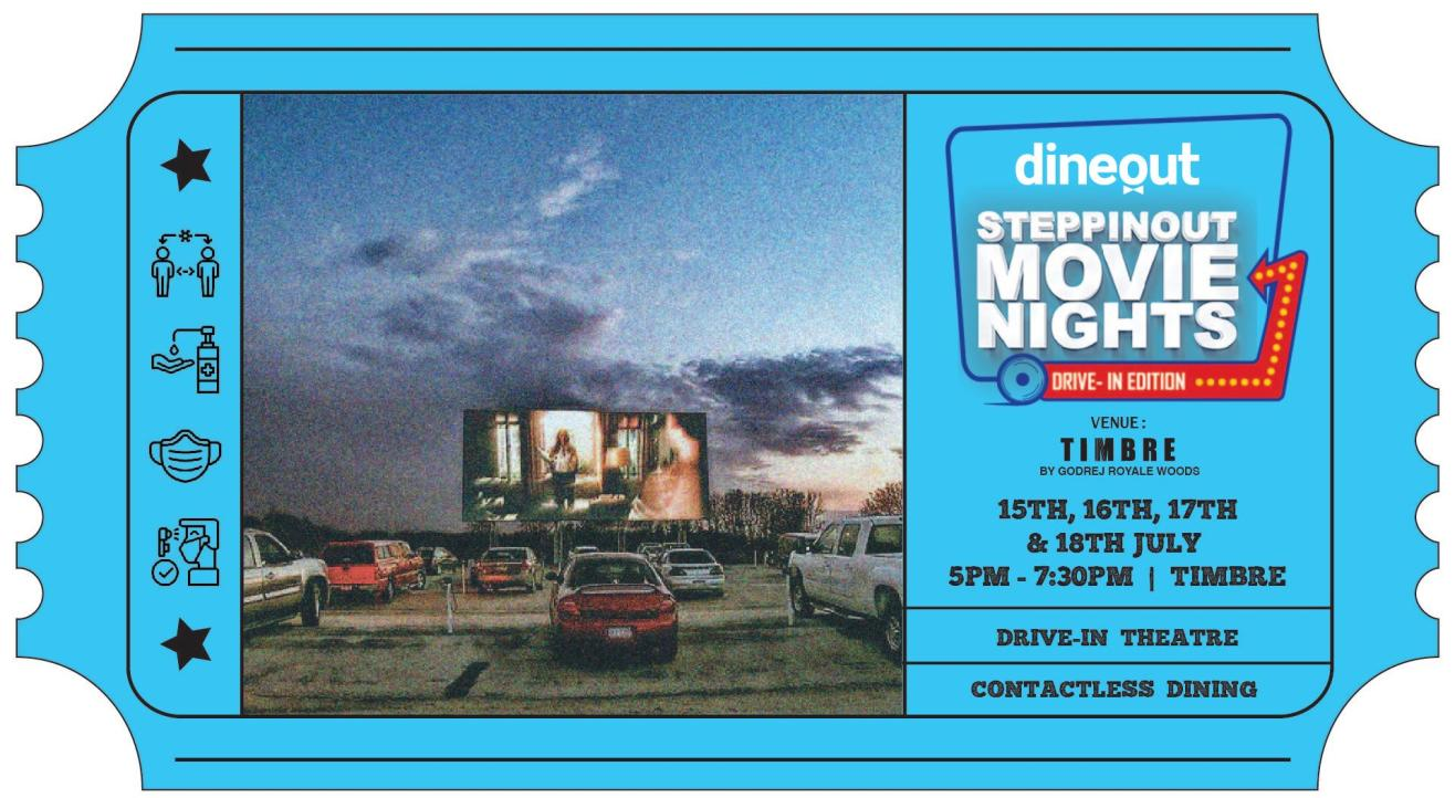 Dineout SteppinOut Movie Nights –  Drive In Edition