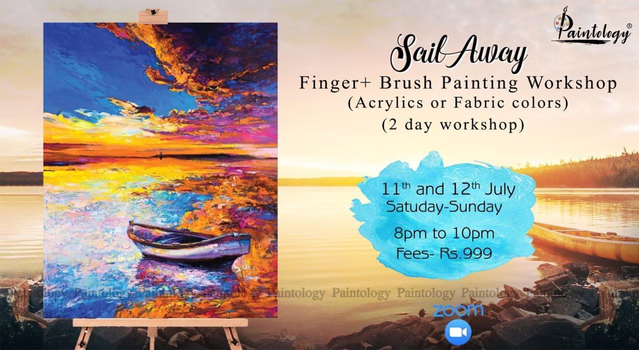 'Sail Away' Finger painting workshop (2 day workshop)