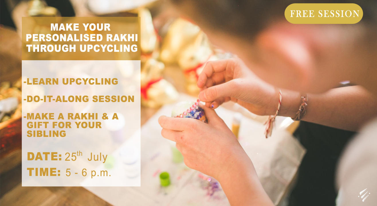 Personalized Rakhi made through Upcycling by Enlightened Sapiens
