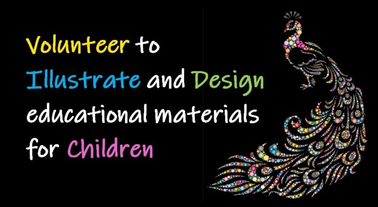 Volunteer to illustrate and design educational materials for children