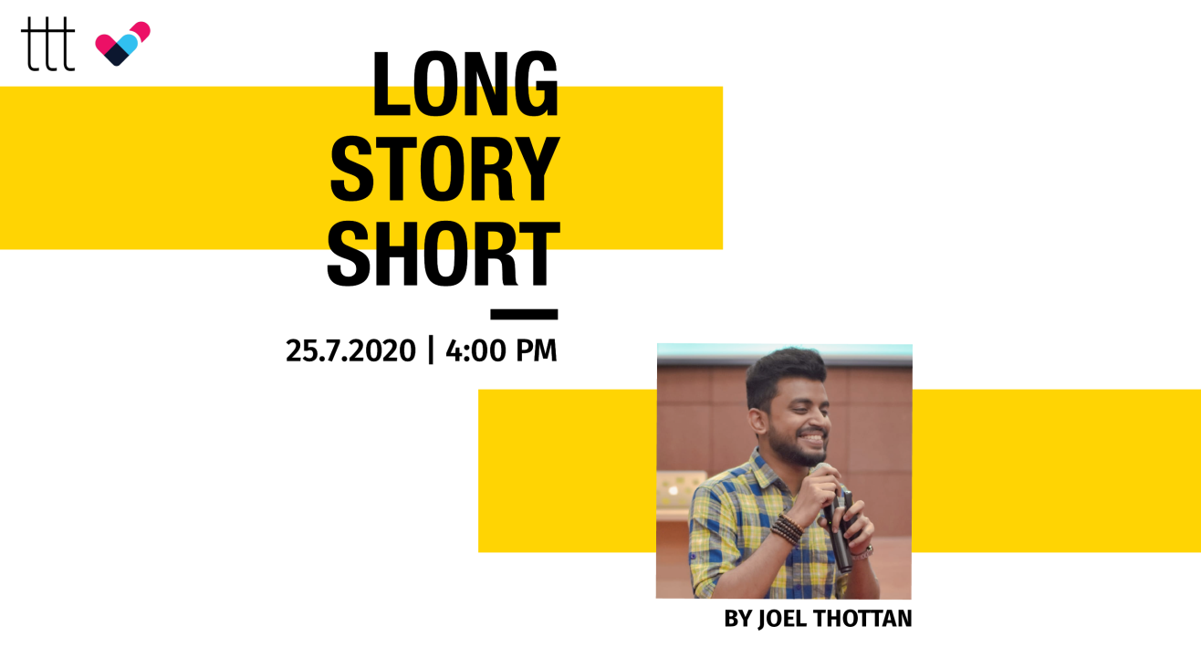 Short Story Writing Workshop by Joel Thottan | Terribly Tiny Tales